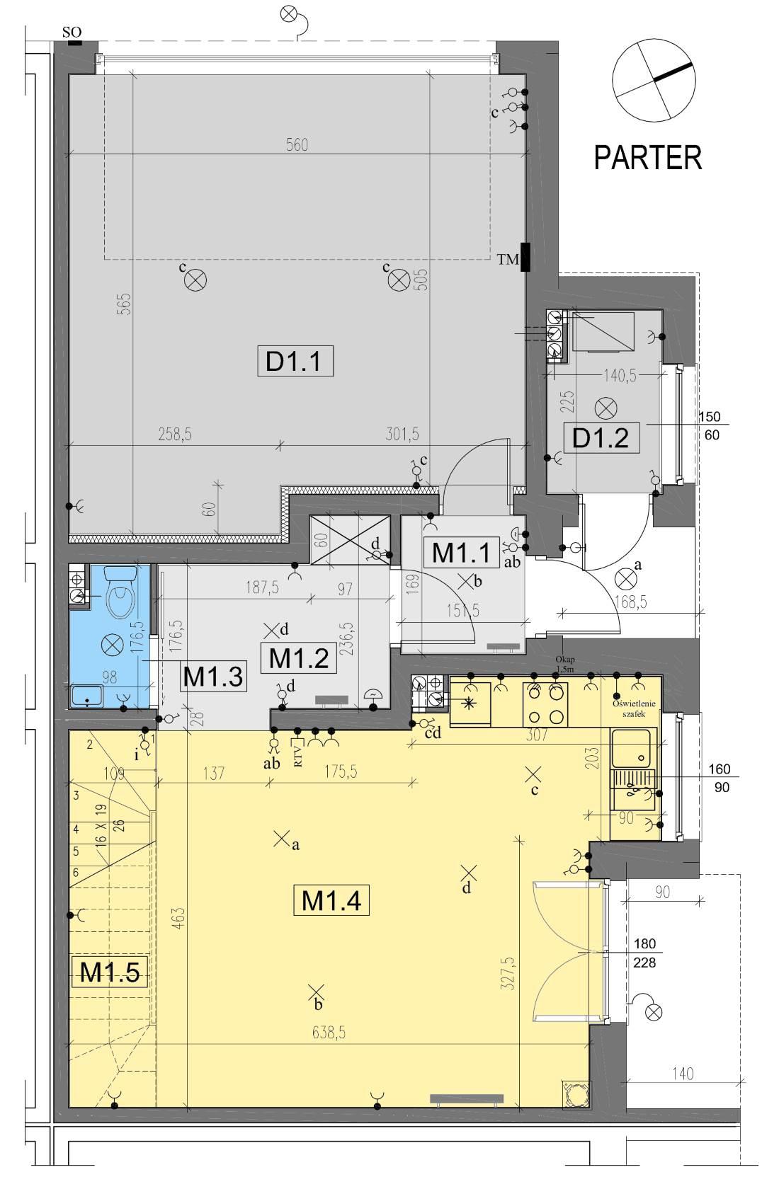 Bierzglinek, Nowbud, domy jednorodzinne, Segment G1- plan parteru