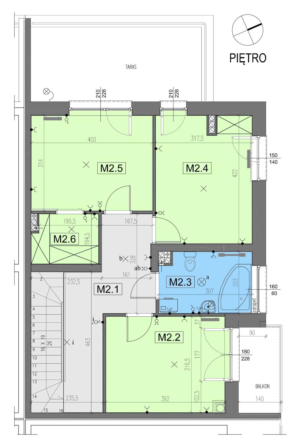 Bierzglinek, Nowbud, domy jednorodzinne, Segment G1- plan piętra